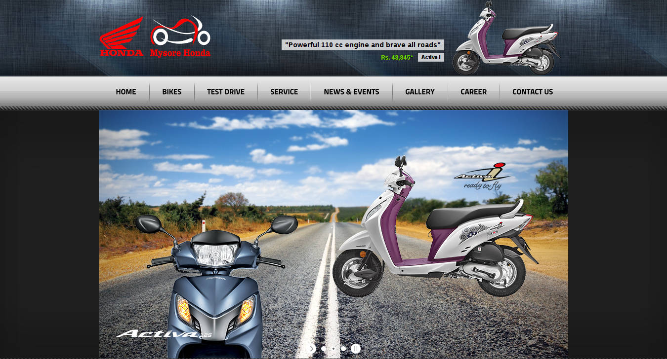 Honda Show Room Website Was Developed By SiteURL