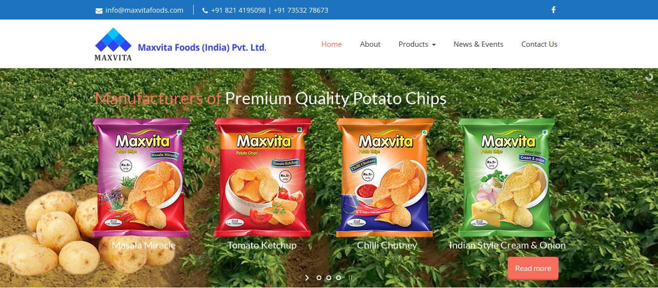 Maxvita Foods - Webdesign Mysore